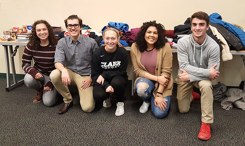 Clark University Students hold a donation drive