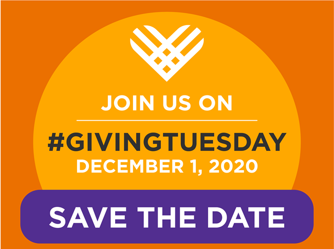 Join us on Giving Tuesday - Save the Date